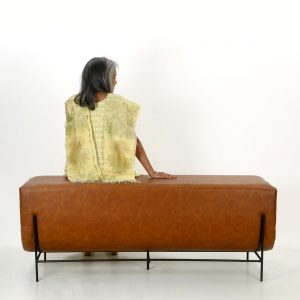 Top Brass : leather bench