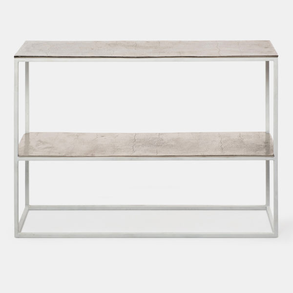 Metal console table for living room