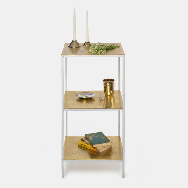 Gold metal Bookcase