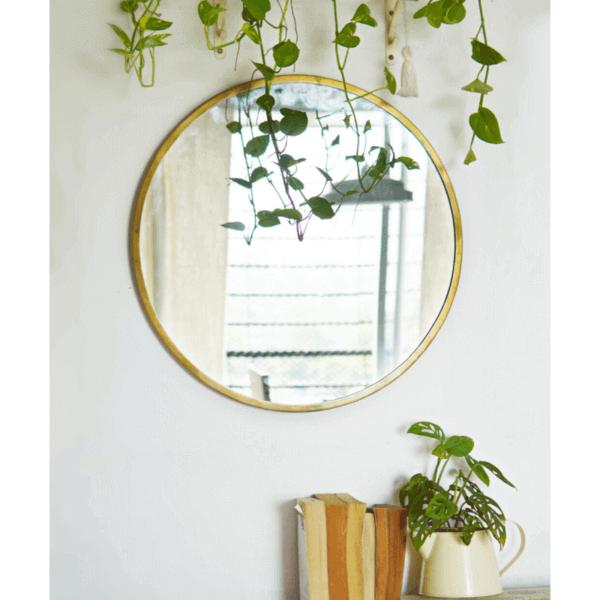 round mirror living room