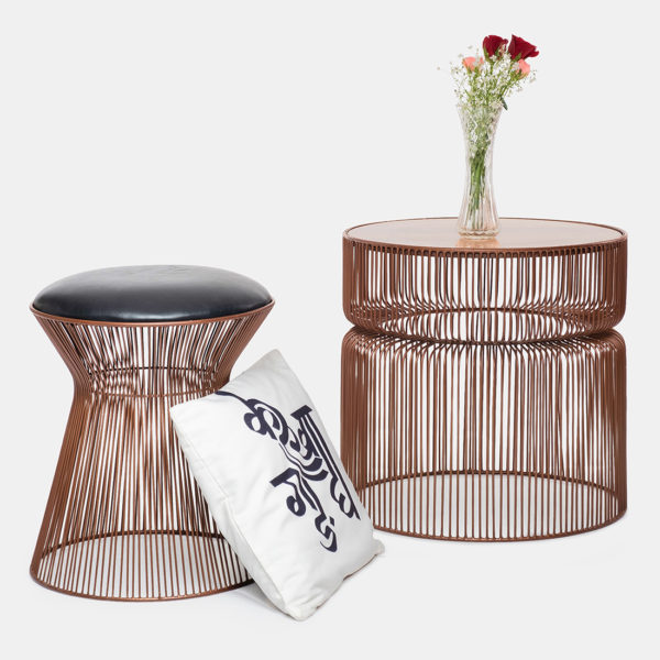 Small coffee table and Metal Stool