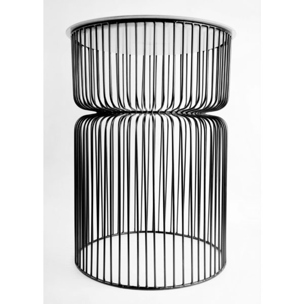 Cool black wired side table