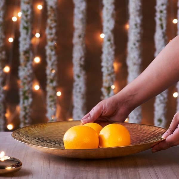 Brass fruit platter online