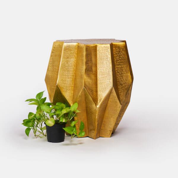 Gold Side Table ToppBrass