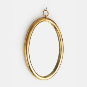 round gold mirror bathroom