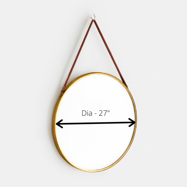 Big Mirror with Leather straps