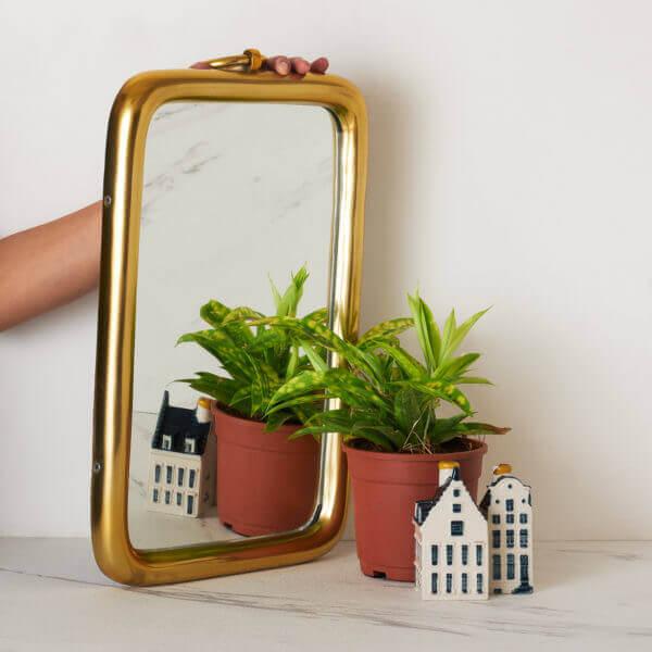 rectangular gold mirror-Toppbrass