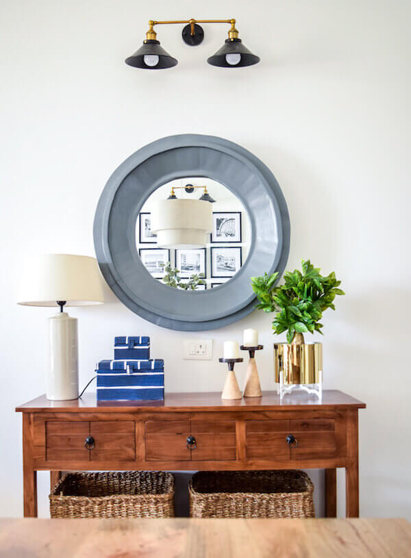 Mirrors in Entryway
