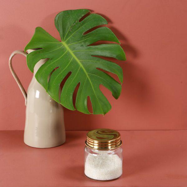 Glass jar for kitchen
