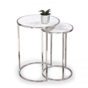 Nesting table metal : Topp Brass