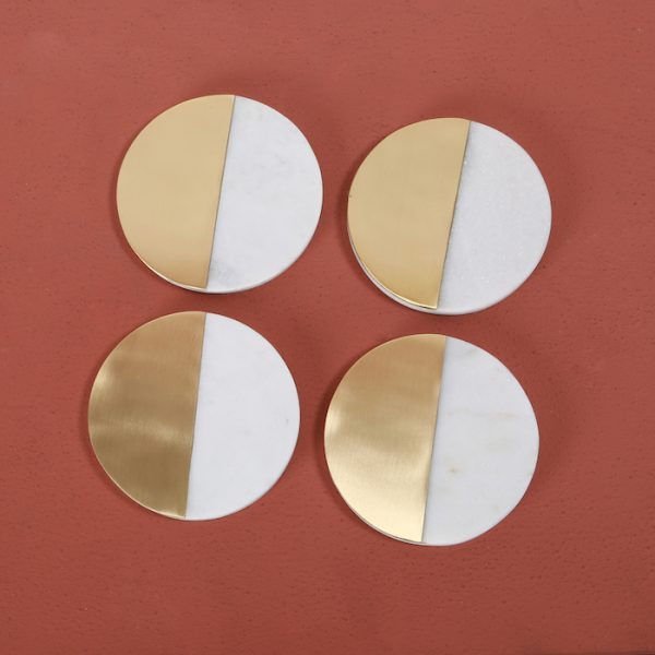 Marble brass coasters : Topp Brass