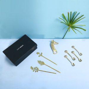 Brass cutlery gift box : Topp Brass