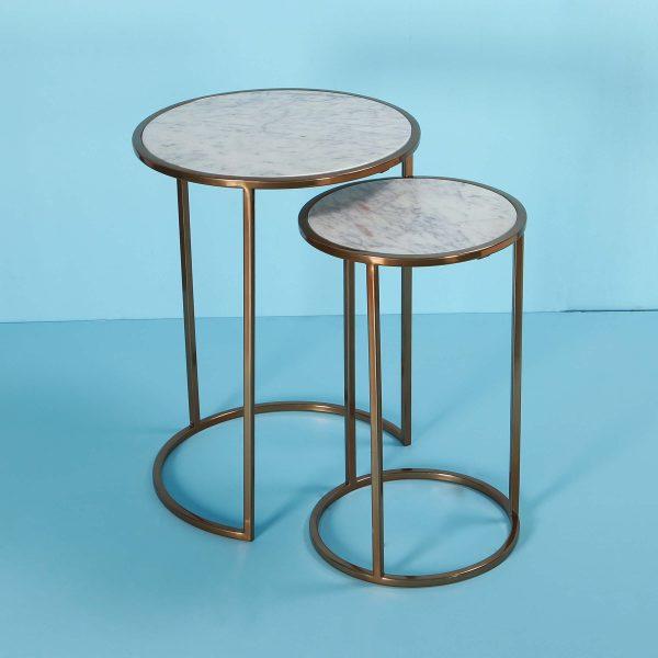 Nesting tables gold : Topp Brass