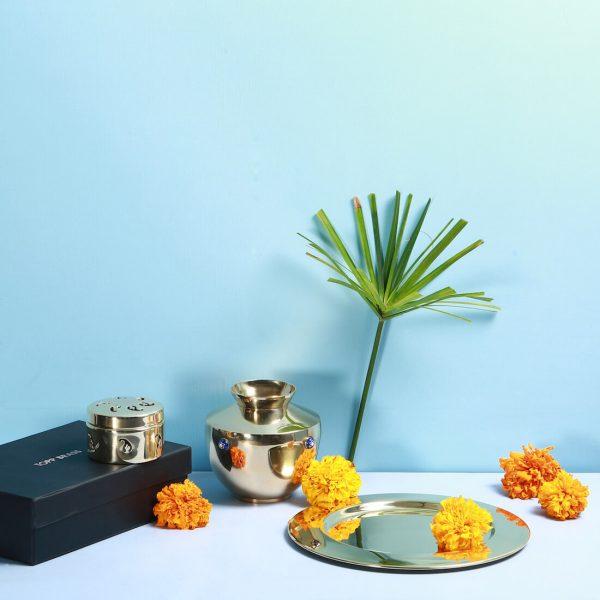 Brass pooja thaali set : Topp Brass