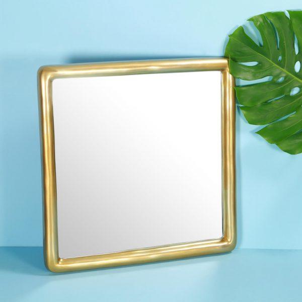 Square Gold Mirror