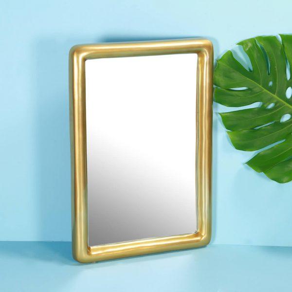 Gold rectangle mirror