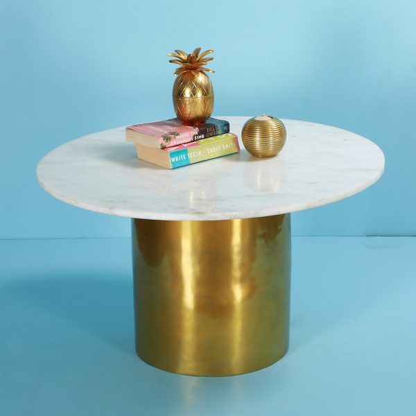 Gold coffee table for living room
