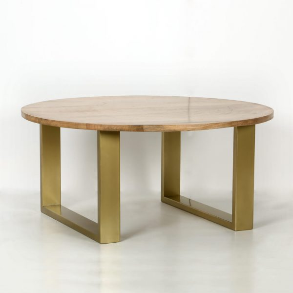 top brass : Wooden small coffee table
