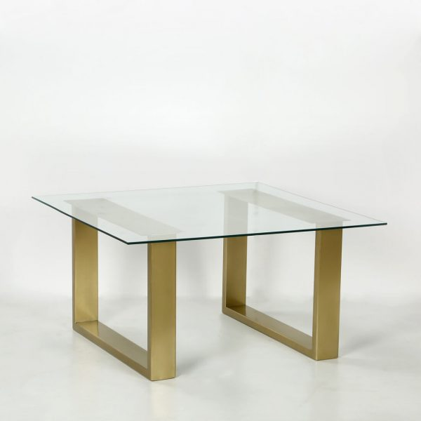 TOPBRASS : Glass coffee table small