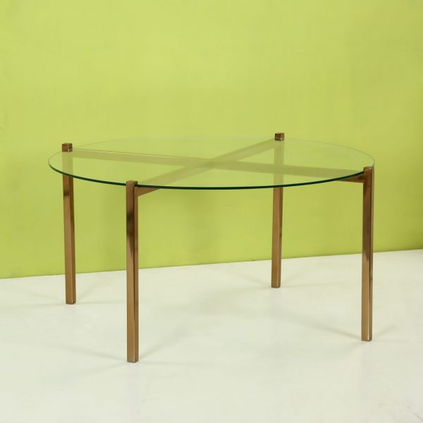 Topp Brass : Glass Coffee Table Round