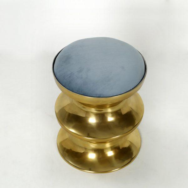 Gold mandir stool : Topbrass