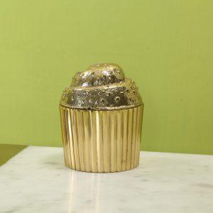 Cupcake brass box