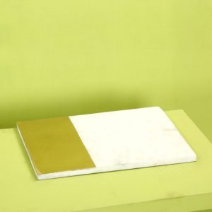 Brass marble bathroom tray : topbrass