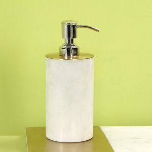 Marble & Brass Soap dispenser